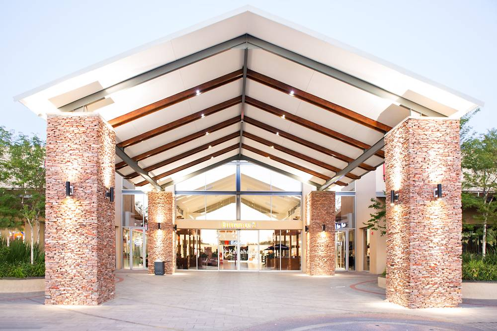 One of the stunning entrances to the Kalahari Mall